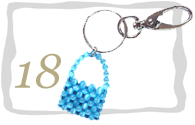 Beaded Purse Keyring