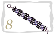 Beaded 6 String Braided Bracelet