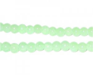 6mm Amazonite-Style Glass Bead, approx. 75 beads
