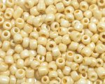6/0 Cream Ceylon Glass Seed Bead, 1 oz. bag