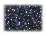 6/0 Black Luster Metallic Glass Seed Beads, 1 oz. bag