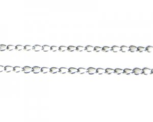 "4mm Silver Link Chain, 40"" length"