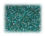 11/0 Green Silver-Lined Glass Seed Beads, 1 oz. bag