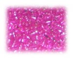 6/0 Hot Pink Silver-Lined Glass Seed Beads, 1 oz. bag