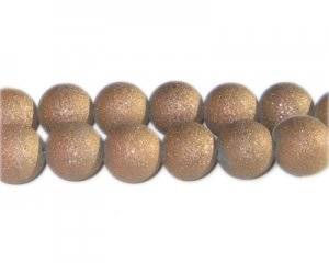 12mm Bronze Druzy-Style Electroplated Glass Bead, approx. 12 bea