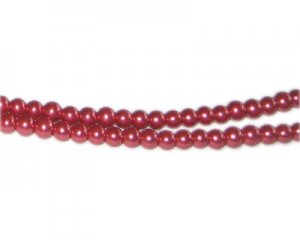 4mm Coral Glass Pearl Bead, approx. 113 beads
