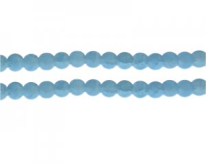 8mm Soft Turquoise Gemstone-Style Glass Bead, approx. 35 beads