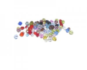 Approx. 1.5oz. x 3-4mm Color Bi-cone Glass Bead Mix