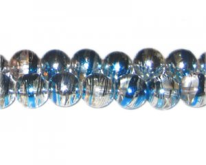 12mm Silver Shine Abstract Glass Bead, approx. 18 beads