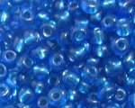 6/0 Deep Turquoise Silver-Lined Glass Seed Bead, 1oz. bag