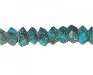 "8 x 14mm Reconstituted Turquoise Faceted Bead, 7"" string"