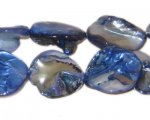 14 - 21mm Blue Irregular Diamond Shell Bead