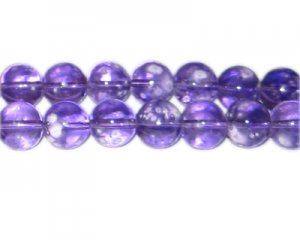 12mm Purple Blossom Spray Glass Bead, approx. 18 beads