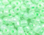 6/0 Soft Green Ceylon Glass Seed Bead, 1oz. bag