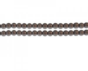6mm Antique Silver Rustic Glass Pearl Bead, approx. 71 beads
