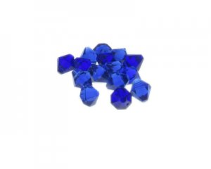 8mm Navy Side-Drilled Faceted Bi-cone Glass Bead, 20 beads