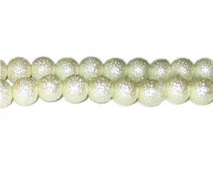 10mm Cream Rustic Glass Pearl Bead, approx. 23 beads