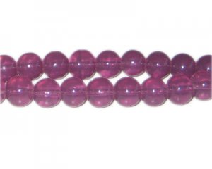 10mm Sangria Jade-Style Glass Bead, approx. 21 beads