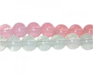 12mm Pink Jade-Style Glass Bead, faded. No Returns!