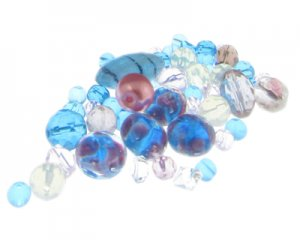 Approx. 1.5 - 2oz. Carnival Glass Bead Mix