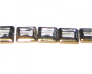 14mm Crystal Vintage-Style Square Glass Bead, approx. 5 beads