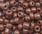 6/0 Dark Brown Opaque Glass Seed Bead, 1oz. bag