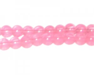 8mm Guava Jade-Style Glass Bead, approx. 77 beads