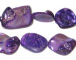 14 - 21mm Purple Irregular Diamond Shell Bead