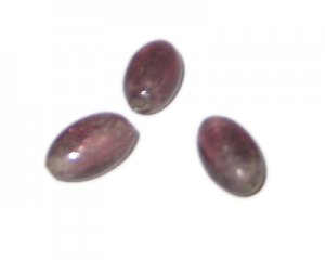 18 x 12mm Plum Foil Oval Lampwork Glass Bead, 4 beads