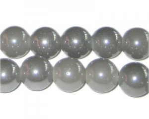 12mm Smoky Gray Galaxy Glass Bead, approx. 17 beads