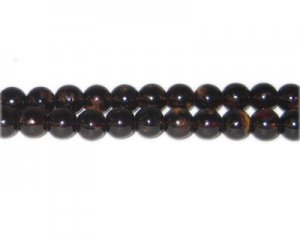 8mm Brown Blossom Spray Glass Bead, approx. 52 beads