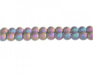 6mm Luster Druzy-Style Electroplated Glass Bead, approx. 51 bead