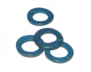 20mm Turquoise Dyed Coconut Circle, 15 circles