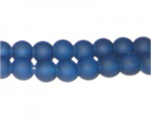 10mm Petrol Blue Sea/Beach-Style Glass Bead, approx. 16 beads