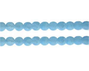 10mm Soft Turquoise Gemstone-Style Glass Bead, approx. 16 beads