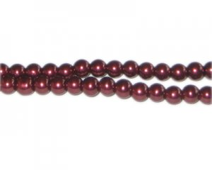 6mm Wine Glass Pearl Bead, approx. 78 beads