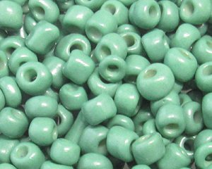 6/0 Forest Green Opaque Glass Seed Bead, 1oz. bag