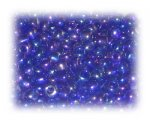 6/0 Dark Blue Rainbow Luster Glass Seed Beads, 1 oz. bag