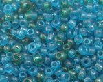 11/0 Dark Green and Turq. Transparent Glass Seed Bead, 1oz. bag