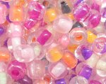 6/0 Soft Color Inside-Color Glass Seed Bead, 1oz. bag