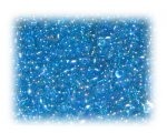 11/0 Turquoise Rainbow Luster Glass Seed Beads, 1 oz. bag