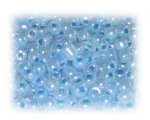 6/0 Baby Blue Ceylon Glass Seed Beads, 1 oz. bag