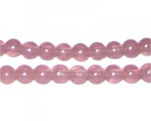 8mm Mallow Jade-Style Glass Bead, approx. 77 beads