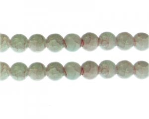 10mm Labradorite Duo-Style Glass Bead, approx. 16 beads