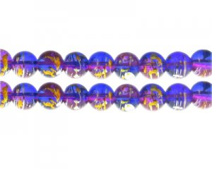 10mm Shimmering Jewel Abstract Glass Bead, 16 beads