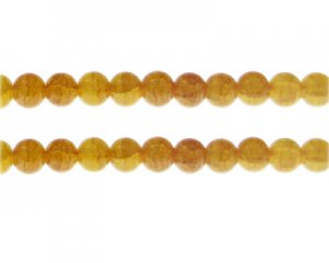8mm Carnelian Duo-Style Glass Bead, approx. 35 beads