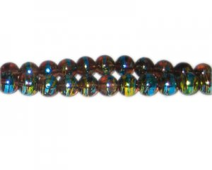 8mm Desert Sand Abstract Glass Bead, approx. 54 beads
