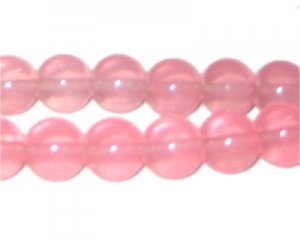 12mm Guava Jade-Style Glass Bead, approx. 18 beads