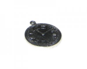 30 x 36mm Silver Clock Metal Steampunk Pendant, 2 pendants