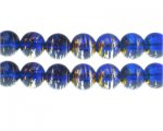 12mm Night Sea Abstract Glass Bead, 14 beads